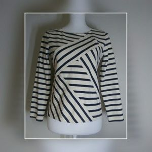 J Crew structured long sleeve bandage top size S